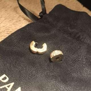 Pandora 14ct Gold Shinning Elegance Spacer Clip