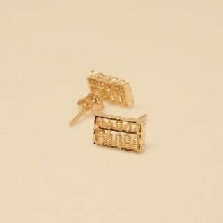 Abacus earring (round / rectangle)