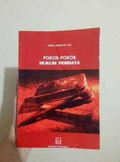 Buku Pokok Hukum Perdata Subekti