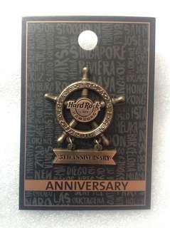Hard Rock Cafe Pins - HAMBURG HOT 5TH ANNIVERSARY 3D SHIP PILOT WHEEL!
