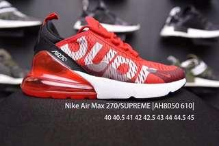 Nike Air Max 270 X Supreme (All Men Sizes)