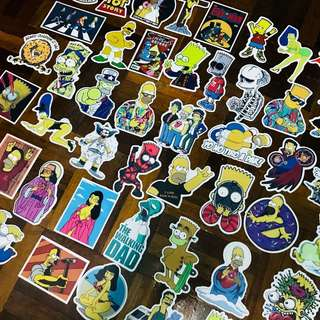 Simpson and Family stickers collection 42pcs