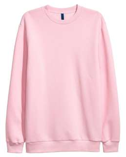 sweater hoodie h&m baby pink size M
