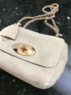 Mulberry pony hair lily bag