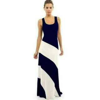 NEW!!!  Php350  SLEEVELESS MAXI DRESS COTTON FABRIC NICE QUALITY,STRETCHABLE FIT SMALL MEDIUM LARGE