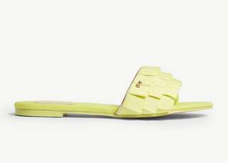 (Summer sale) Ted Baker towdi grosgrain ruffle sandals