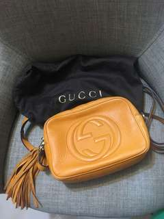gucci soho bag orange color 細袋