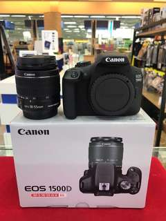 Canon EOS 1500D + 18-55MM II kit