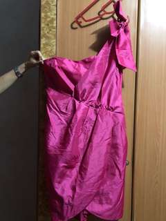 🚚 L Pink Toga Evening Gown