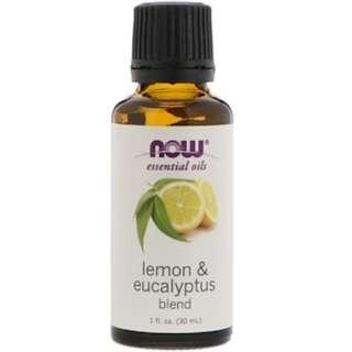 Now Foods, Lemon & Eucalyptus Blend Essential Oils, 1 fl oz (30 ml)
