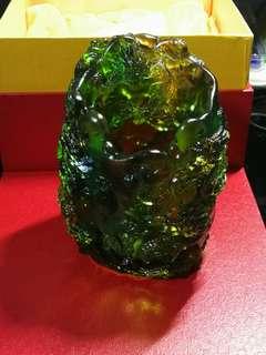 古法琉璃 (九龙笔桶)