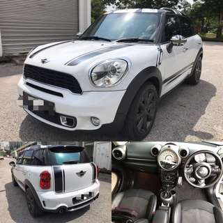 SAMBUNG BAYAR / CONTINUE LOAN  MINI COOPER COUNTRY MAN S TAHUN 2012 1.6CC AUTO TURBO
