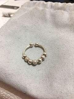 正生銀飾 轉運珠戒指