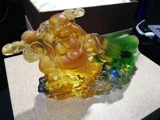 古法琉璃 (笑佛-名片夹)
