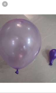 50 pcs for $1.50: 10inch thin latex balloon