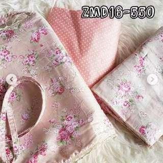 Telekung Corak Cotton Jepun