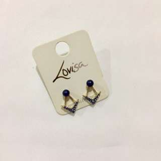 Blue studded Earrings