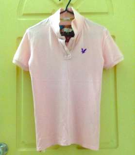 Pink Polo Tee Shirt Slim Fit size L #July50