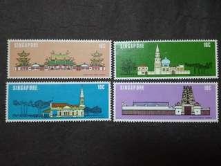 Singapore 1978 National Monuments Complete Set - 4v MNH Stamps #1