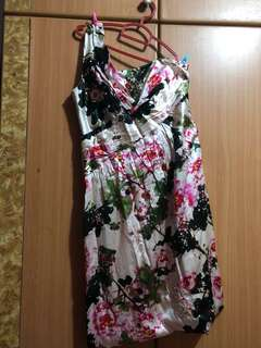 🚚 L Toga Floral Satin Evening Gown
