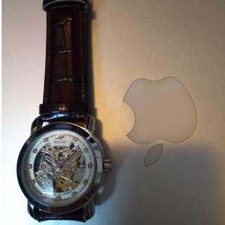 男女裝 高貴優雅 陀飛輪 精緻機械錶(金、白、黑) Men/female Elegant Royal style mechanical tourbillon Exquisite watch (golden, white & black)