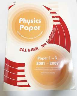 A Level Physics 2001-2009