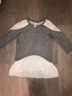 Lace grey sweater