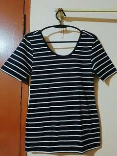 Stripes Blouse with low back