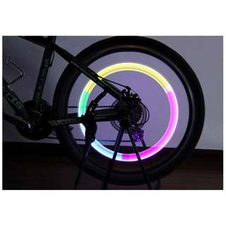 Bicycle multicolor wheel light (1pc)