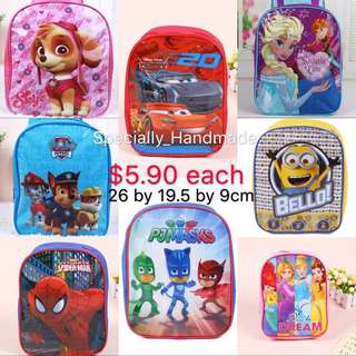 KIDS SCHOOL BAG, CHILDREN BAG, SNACK BAG, PARTY GOODIE BAG