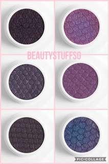 Colourpop purple Super Shock Shadows - envy, dance party, bae, bow down, wittle, issa (supershock)