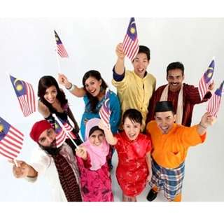 Malaysia Mini Jalur Gemilang Flags (20 Packs)-Preorder online only