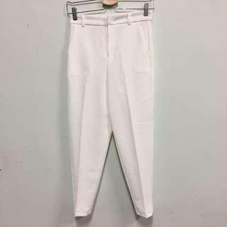 🚚 白色厚雪紡長褲