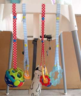 2 pcs baby toy strap (blue & red)