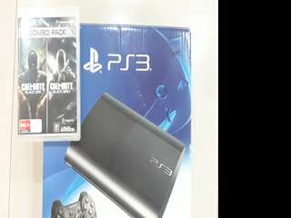 Playstation 3 Slim+ 1 controller+ 2 games