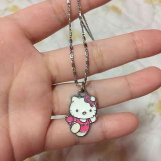 Hello Kitty 18K Silver Necklace