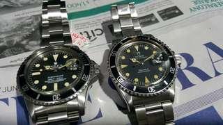 Rolex Sub 1680 & Tudor Sub 79090