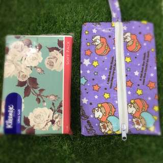 🔺New Arrival🔺Handmade Waterproof Travel Pack Size Tissue Pouch.