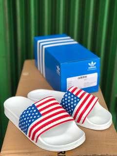 Adidas Adilette ORIGINAL American flag