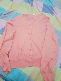Pink knitted blazer