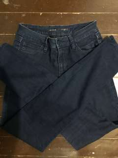 Guess Dark Blue High Waisted Pants (S-M)