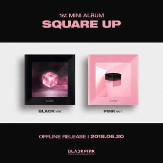 [Pre-Order] BLACKPINK 블랙핑크 1ST MINI ALBUM (1ST 미니앨범) - SQUARE UP (BLACK ver / PINK ver )