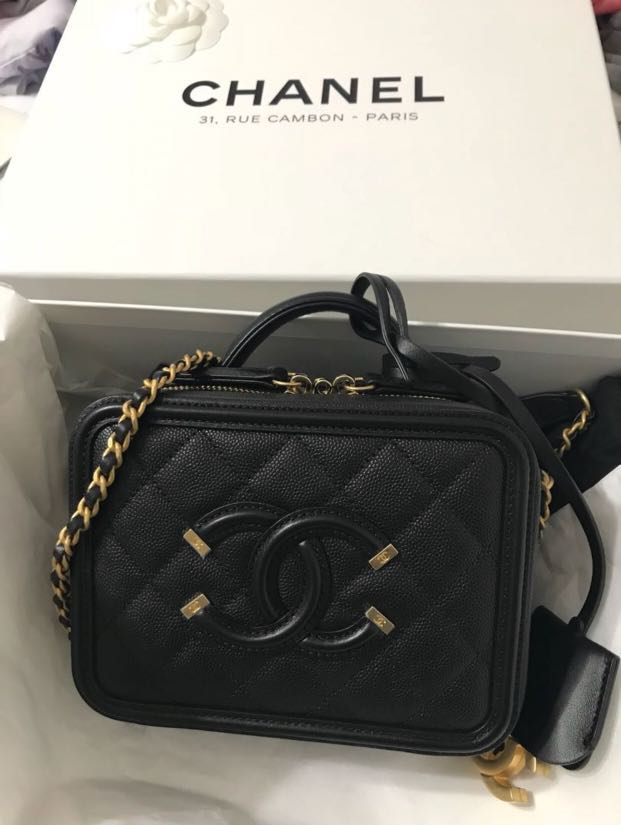 8aaa35d8d52df8 2018 Spring/Summer collection 🌈Authentic Chanel Small CC Vanity Case Bag🌈🌈🌈PRICE  REDUCE 🌟🌟🌟🌈🌈, Luxury, Bags & Wallets, Handbags on Carousell