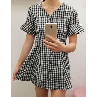 📣(Free.pos) Checkered Dress