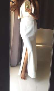 White long dress ( double usage)