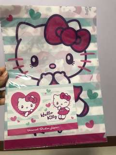 Hello Kitty File and Sticker set