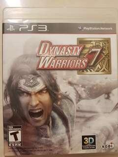 PS3 Dynasty Warrior 7
