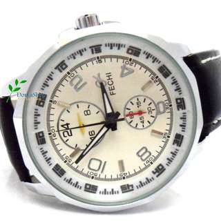 男裝 多重計時 成熟穩重 精緻手錶 (黑色、白色) Men Mature & Prudent style multiple timing Exquisite watch (white, black)