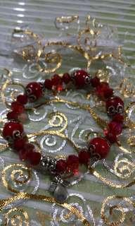 Bracelet; semi precious stones; coral gemstones