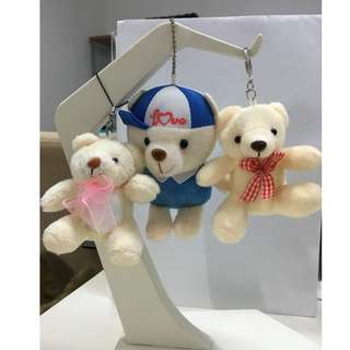 Teddy bear key chains